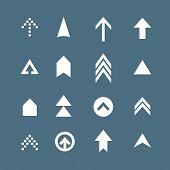 Arrow Icon Set. Web Arrow Pictogram Design. Internet Elements Symbols. Navigation Previous Right And poster