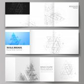 The Minimal Vector Layout. Modern Covers Design Templates For Trifold Square Brochure Or Flyer. Poly poster