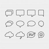 Speech Bubbles Flat Vector Icons Set. Chat Bubbles Flat Vector Icons Set poster