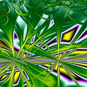 3d Surreal Illustration. Sacred Geometry. Mysterious Psychedelic Relaxation Pattern. Fractal Abstrac poster