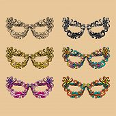 Carnival Beautiful Mask Collection. Carnival Masks.masked Fashion Party Carnival poster