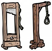 pic of guillotine  - cartoon noose and guillotine - JPG