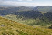 View From Straights Of Riggindale With The Rigg & Haweswater (left), Branstree (centre 713m), Gatesc poster