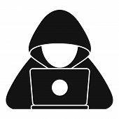 Cyber Hacker Icon. Simple Illustration Of Cyber Hacker Vector Icon For Web Design Isolated On White  poster