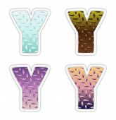 Y Logo Letter With Rainbow Vibrant Colors.y Colorful Modern Trendy Purple And Magenta Letters Vector poster