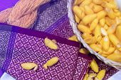 Silk Is A Natural Protein Fiber, This Is A Source Of Silk Thread And Silk Fabric Beautiful And Color poster