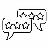 Feedback Chat Icon. Outline Feedback Chat Vector Icon For Web Design Isolated On White Background poster