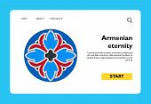 Colorful Armenian Sign Of Eternity. Everlasting, Celestial Life, Eternity, National Identity. Nation poster