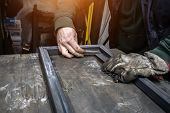 The Welder Cooks The Frame. The Welder Cooks The Metal. The Welder Cooks Metal Structures. Welding W poster