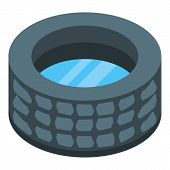 Stone Well With Water Icon. Isometric Of Stone Well With Water Vector Icon For Web Design Isolated O poster