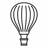 Freedom Air Balloon Icon. Outline Freedom Air Balloon Vector Icon For Web Design Isolated On White B poster