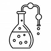 Pipe Lab Flask Icon. Outline Pipe Lab Flask Vector Icon For Web Design Isolated On White Background poster