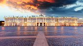 Winter Palace On Palace Square In Saint Petersburg, Russia poster