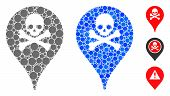 Danger Zone Map Marker Mosaic Of Circle Elements In Variable Sizes And Color Tinges, Based On Danger poster