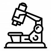 Microscope Icon. Outline Microscope Vector Icon For Web Design Isolated On White Background poster