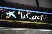 Central Branch Of La Caixa Bank In Palma