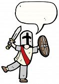 stock photo of arthurian  - medieval knight cartoon - JPG
