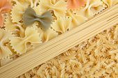 Colorful Mixed Picture With Spaghetti And Noodles. poster