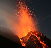 pic of magma  - Volcano Stromboli  Eolian islands - JPG