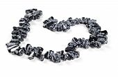 stock photo of obsidian  - Snowflake obsidian nuggets - JPG