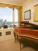 Harpsichord In Penthouse Bedroom With River View   New York City