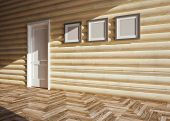 pic of chalet interior  - modern interior of wooden house - JPG