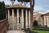 foto of hercules  - the temple of Hercules aka Vesta in Rome Italy - JPG