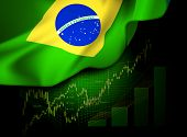 foto of macroeconomics  - Market Financial Data with flag of Brazil - JPG