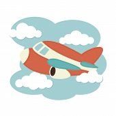 picture of float-plane  - Illustration of a plane in the clouds - JPG