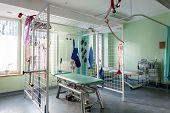 image of suspension  - Rehabilitation room with table for therapy in suspension - JPG
