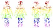 pic of transgendered  - Tag or word cloud illustration related to homosexuality - JPG