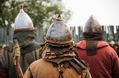 picture of throne  - Infantry warrior helmets in the Middle Age - JPG