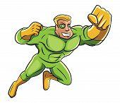 image of heroes  - Green Super Hero Editable  - JPG