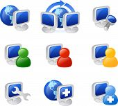 picture of internet icon  - various web and internet icons