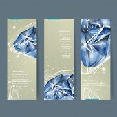 stock photo of priceless  - modern design for banners set with diamond element - JPG