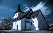 picture of templar  - Templar church at village Martincek  - JPG