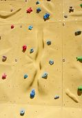 foto of rabbit hole  - Colorful climbing holds on an artificial climbing wall - JPG