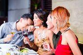 image of chinese restaurant  - Asian friends - JPG