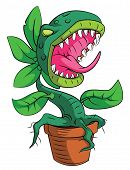 stock photo of carnivorous plants  - Monster Plant Editable Vector Art and Illustration Design - JPG