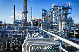picture of gas-pipes  - oil and gas industry in powerful HDR processing effect - JPG