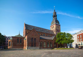 stock photo of doma  - Riga cathedral  - JPG