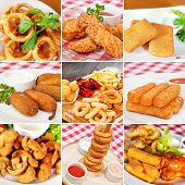 ������, ������: Deep fried Snacks Collage