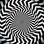 image of hypnotic  - Angular spiral background - JPG