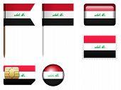 image of iraq  - Iraq flag set on a white background - JPG