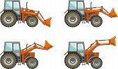 pic of wheel loader  - Detailed illustration of wheel loaders heavy equipment and machinery - JPG