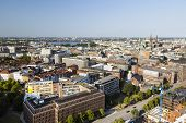 picture of outer  - View over Hamburg Germany to the Inner and Outer Alster - JPG
