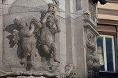 picture of obelisk  - Obelisk detail Place del Ges - JPG