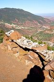 foto of atlas  - dades valley in atlas moroco africa ground tree and nobody - JPG