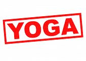 pic of jainism  - YOGA red Rubber Stamp over a white background - JPG
