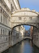 foto of interrogation  - Bridge of Sighs over Rio di Palazzo between New Prison and interrogation rooms in the Doge - JPG